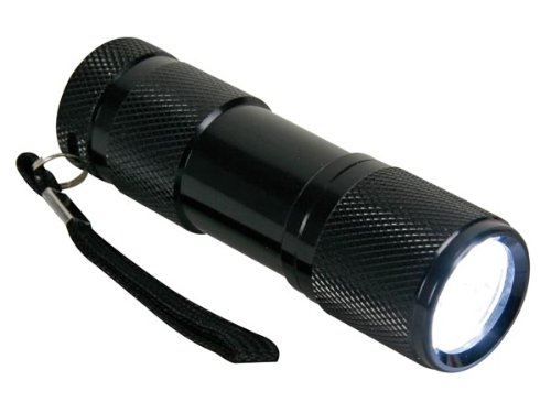 Perel EFL24 Lampe Torche 9 LEDs Alu