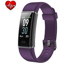 Yuanguo Pulsera de Actividad Monitores de Actividad IP68 Monitor de Ritmo Cardíaco a Prueba de Agua