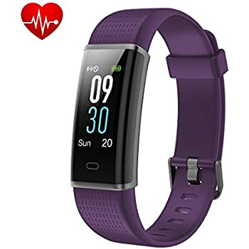 Yuanguo Montre Connectée Tracker dactivité Cardiofréquencemètre Podomètre Smart Bracelet Connecté Moniteur de Calories Distance