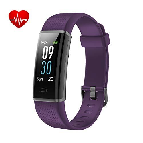 Yuanguo Fitness Tracker Orologio Fitness Bracciali Impermeabile IP68 Nuoto Cardiofrequenzimetro da Polso Contapassi Pedometro Calorie Distanza Sonno Activity Sport Smart Watch