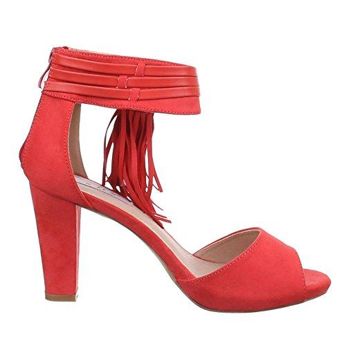 Ital-Design - Sandaletti Donna Rosso corallo