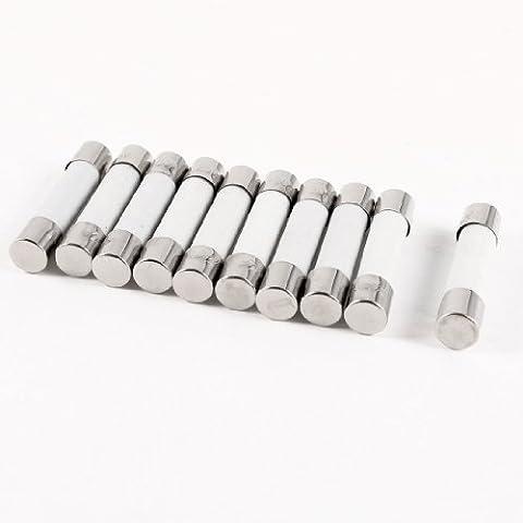 10 piezas de 250V 30A 6x30mm cilíndrica del tubo de cerámica Fusibles Enlace, Modelo:, Hogar y