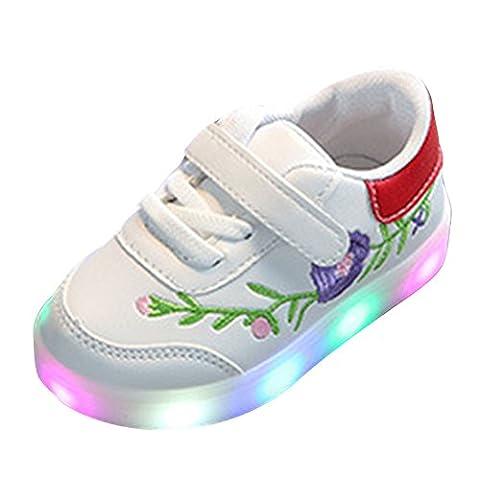 Boys Girls Light Shoes,Juleya Toddler Kids Flower Vine Bright Sporting