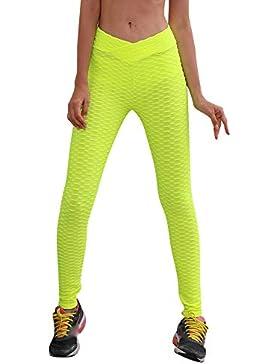 Ansenesna Pantalones Mujer Elasticos Invierno Vaqueros Deporte Polainas Aptitud Yoga Cintura Alta Que Corren Estiramiento...