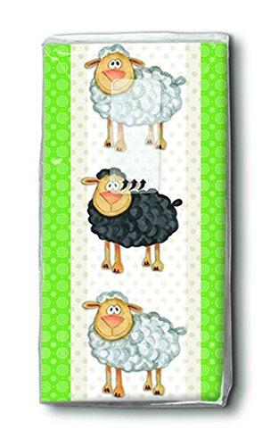 bedruckte Taschentücher ein schwarzes Schaf weiße Schafe Ostern Ostertaschentücher (Schwarze Schafe Haut)