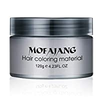 Salon Hair Styling Pomade Silver Ash Grandma Grey Hair Waxes Temporary Disposable Hair Dye Coloring Mud Cream Unisex