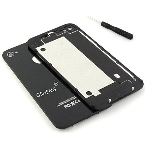 GSHENG Tapa Trasera Cristal para Apple iPhone 4S + Destornillador pentalobulado...