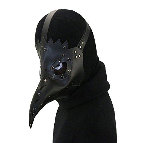 Pest Vogel Maske von Retro mittelalterlichen Doktor Gothic Vintage Kostüm, Halloween Party Cosplay Dekoration Zubehör, Schwarz ()