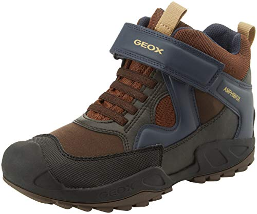 Geox Jungen J New Savage Boy B ABX A Hohe Sneaker, Braun (Brown/Navy C0947), 38 EU