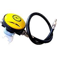Jaimenalin 2Nd Regulador De RespiracióN De Buceo De Etapa Explorador Ajustable Reductor De PresióN De Buceo Respirador Boca De Buceo Bocado Escafandra AutóNoma