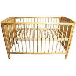 Cama de bebé transformable en cama de niño 120 x 60 cm