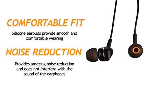 XCESSOR (S/M/L) 6 Paar (12 Stück) Silikon-Ersatz-Ohrhörer S/M/L Größe Ohrhörer Ersatz-Ohrstöpsel für Beliebte in-Ear-Kopfhörer. Schwarz/Orange - 3