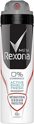 Rexona Men Deospray Active Shield Fresh ohne Aluminium, 150 ml, 6er Pack (6 x 150 ml)