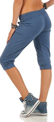 malito kurze Sweatpants Freizeithose 83701 Damen One Size Blau