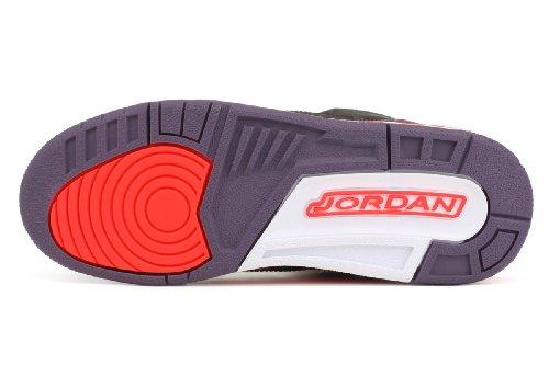 Nike Air Jordan 3 Retro Gs blck, brght rmsn-cnyn prpl-pr
