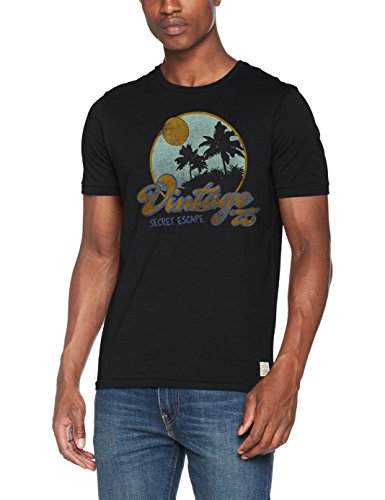 JACK & JONES VINTAGE Herren T-Shirt Jjvcustom5 Tee Ss Crew Neck Grau (Caviar Fit:SLIM FIT)