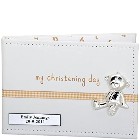 Button Corner PU Album with Ribbon and My Christening Icon