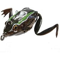 MaMaison007 Crankbaits Tackle esche Ray Frog pesca esche d'acqua dolce basso 40mm-grigio & Green
