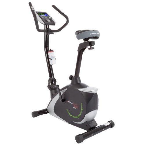 Ultrasport Heimtrainer Racer 700M/800A mit Handpuls-Sensoren inkl. Trinkflasche