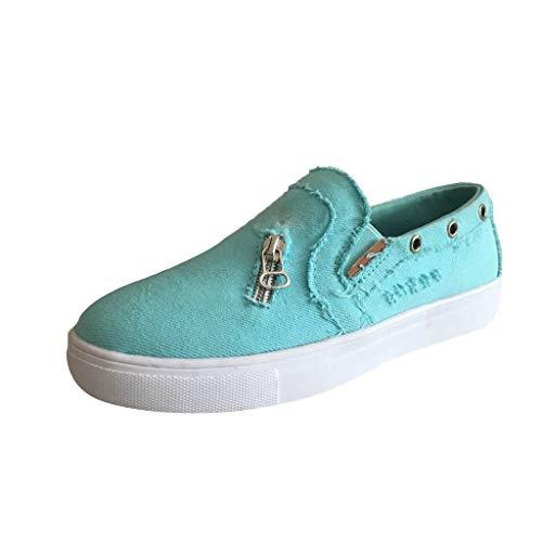 LILIHOT Frauen leichte atmungsaktive Mesh-Schuhe erhöht Freizeitschuhe Outdoor Casual Sportschuhe Dickes Ende Erwachsene Straße Laufen bequem ultraleichte Mode Luftpolster Schuhe (38, B Blau) -