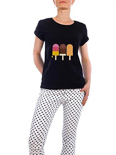 """Design T-Shirt Frauen Earth Positive """"Coole Freunde"""" - stylisches Shirt Essen & Trinken von Michaela Merzenich Schwarz"""