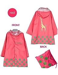 Impermeable dibujos animados de los niños chubasquero para niños de 4–12años, rosa