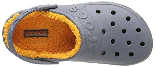 Crocs Hilo Lined Sabot U, Zoccoli e sabot, Unisex - adulto Nero (Charcoal/Mango)