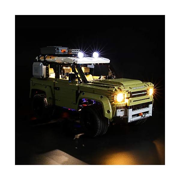 BRIKSMAX Kit di Illuminazione a LED per Lego Technic Land Rover Defender,Compatibile con Il Modello Lego 42110… 3 spesavip