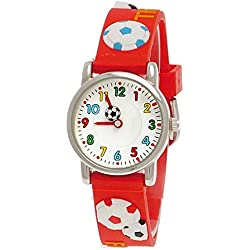 Pure Time Children's Boys Girls Watch Silicone Watch With Football Motif including Watch Box