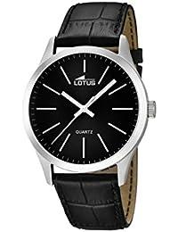 Lotus  15961/3 - Reloj de cuarzo para hombre, con correa de cuero, color negro