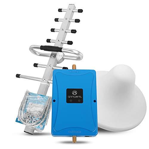 ANNTLENT Amplificatore Segnale Cellulare 800/2600MHz Ripetitore Segnale Cellulare 4G LTE per Telefonica Cellulari con Antenne per Uso Domestico/Ufficio