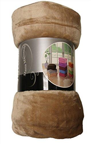 ForenTex - Manta de sedalina, (LI-220 BEIGE), Ultra suave, microseda, para abrigarte con estilo y confort, 220 x 240 cm, 1,5 kg. No suelta pelo. Para sofá y cama. 1-4 mantas paga solo un envío, descuento equivalente antes de finalizar la compra.