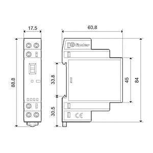 Finder série 22–Contacteur Modulaire 1NA + 1NC 24V Agni Selector Indicateur + LED