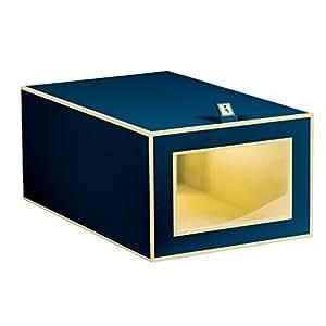 Semikolon (352778) Schuhbox marine (blau) | Aufbewahrungs