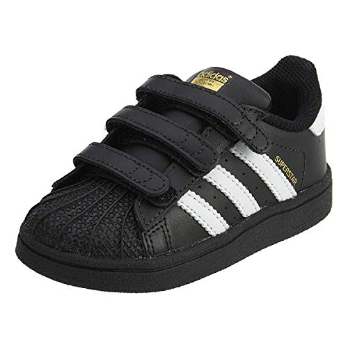 the latest fb400 919fa Adidas Superstar CF Infants Toddlers Shoes Black White bz0419 (5 M US)