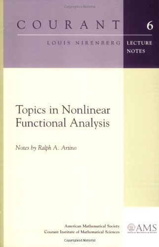 Topics in Nonlinear Functional Analysis (Courant Lecture Notes)