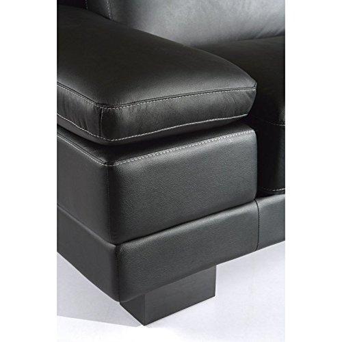 Designer Leder-Sofa-3 Sitzer Garnitur Bett-Couch 402-3-S - 3