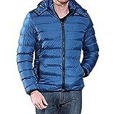 Manadlian Steppjacke Herren Männer Jungs Beiläufig Warm Mit Kapuze Winter Reißverschluss Mantel Outwear Jacke Bluse