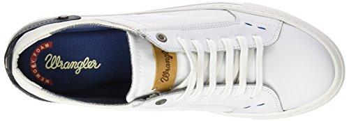 Wrangler Raul, Sneaker Basse Uomo Bianco (Weiß (51 WHITE))