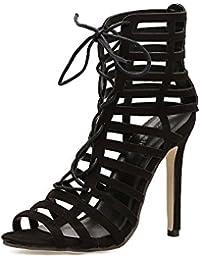 ZHZNVX Das Halteband hochhackigen Sandalen neue Cross strap ausgesetzt high-heel Schuhe