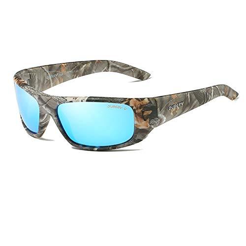 Herren,Polarisierte Sportbrillen Radsportbrille Unisex,Outdoorbrille zum Fahren & Laufen & Wandern & Angeln & Golf & Reisen,Elegant und Langlebig 100% UV-Schutz (Stein-Blau) ()