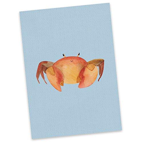 Mr. & Mrs. Panda Einladung, Karte, Postkarte Sternzeichen Krebs - Farbe Blau Pastell