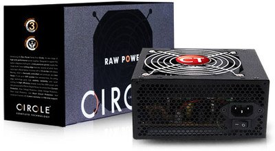 Circle APFC 500 Watts PSU (SMPS) for Gaming cabinet and Server