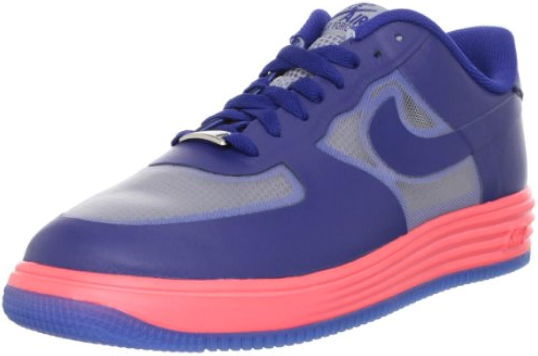 Nike Lunar Force 1 Fuse Herren Hyper Rot/Schwarz Leder Low Top Sneakers
