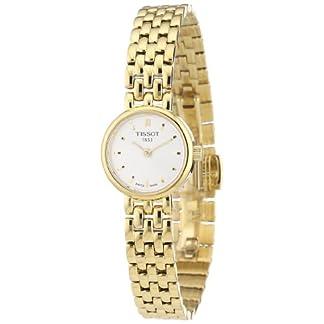 Tissot Lovely T0580093303100 – Reloj de Mujer de Cuarzo, Correa de Acero Inoxidable Color Oro