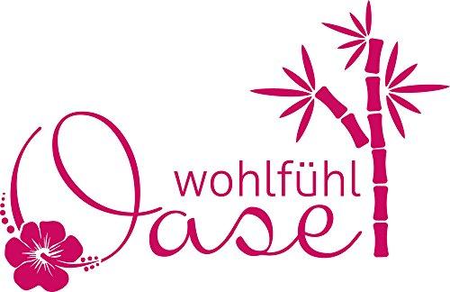 GRAZDesign 650273_57_041 Wandtattoo für Badezimmer Spruch Wohlfühl Oase | Wand-Aufkleber für Dein Bad und WC | Tür-Schild...
