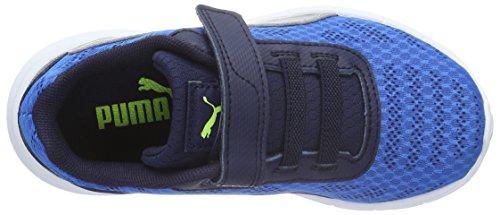 Puma - Meteor V Ps, Scarpe da ginnastica Unisex – Bambini Blu (Blau (Electric Blue lemonade-puma Silver 01))
