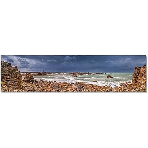 Fine Art Panorama foto fino a 3Meter larghezza, Francia Bretagna Cote granito rosa print su (Granito Vernice)