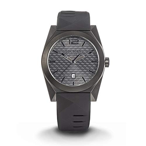Men's Stealth Steel and Titanium PVD Black Locman Watch
