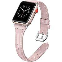 Dolank Compatible avec Apple Watch Bracelet 38mm 40mm 42mm 44mm, Chic&Rétro Bracelet en Cuir Remplacement Fitness Band Accessoires avec Boucle en métal pour iWatch, Nike+, Series 4 3 2 1, Edition